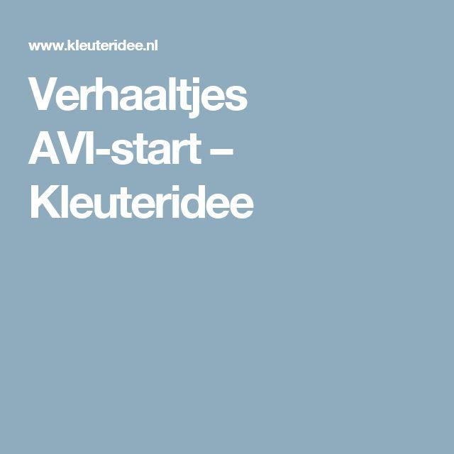 Verhaaltjes AVI-start – Kleuteridee