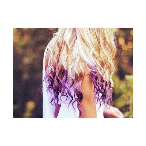 Temporary Hair Color - Dip Dye, PICK A COLOR - Hippie Hair ($4) ❤ liked on Polyvore featuring beauty products, haircare, hair color, hair, pictures, hairstyles, purple, cabelos and backgrounds