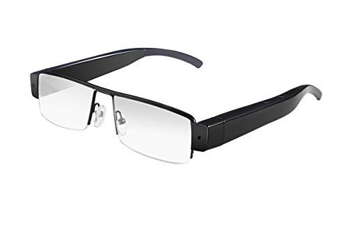 Binwo HD 1080P SPY Hidden Camera Glasses, Mini DV Camera Eye-wear , 1920x1080P Hidden Camera DVR Video Audio Recorder with Clear Lenses -- Details can be found by clicking on the image.