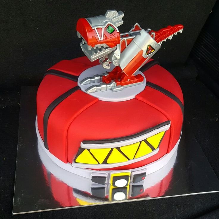 Power Rangers Dino Charge birthday cake by Cakes by Zoie