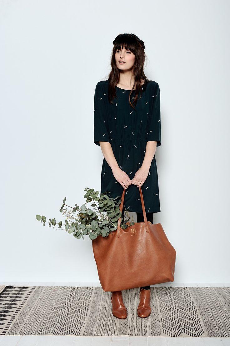 Idora Plumage Dress 100% Silk - China Crêpe - robe femme - Des Petits Hauts 1