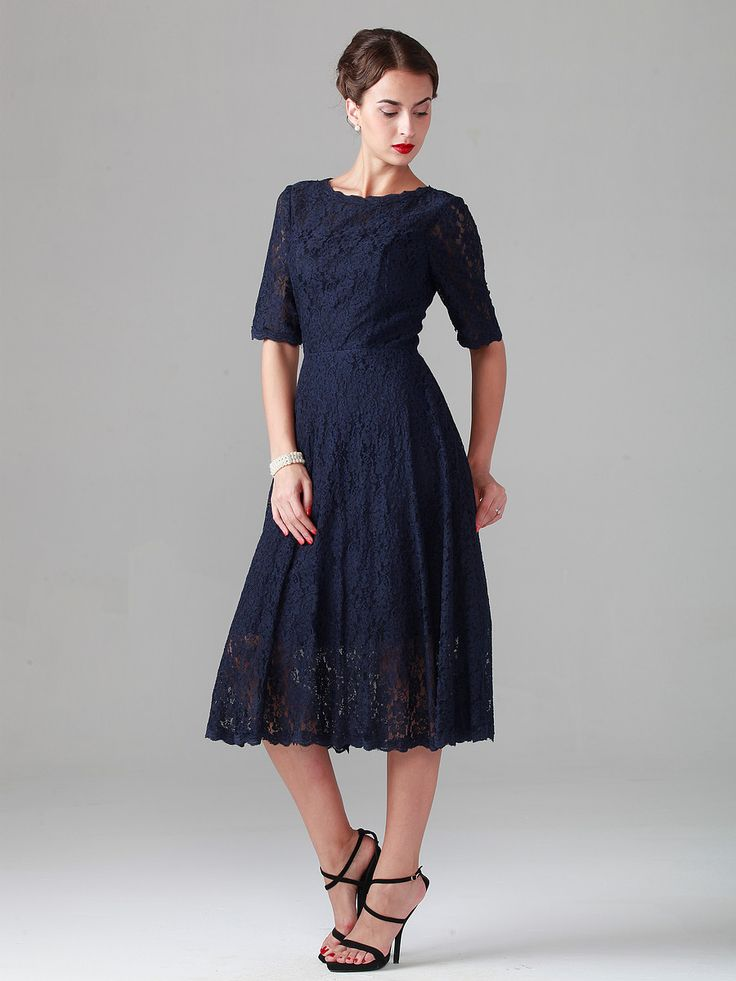 Best 25 Navy lace dresses ideas on Pinterest  Navy lace bridesmaid dress Navy blue outfits
