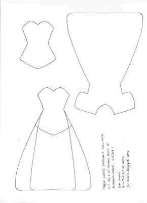 Paper dress template~have a girl that would love this.