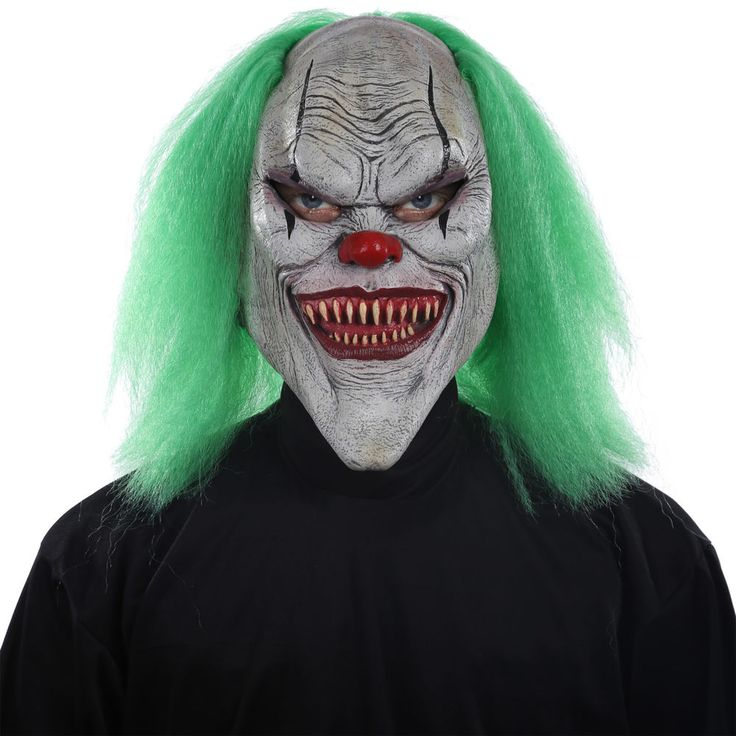 Halloween Evil Clown Horror Latex Mask Scary Face Costume Masquerade Fancy Party #TotallyGhoul