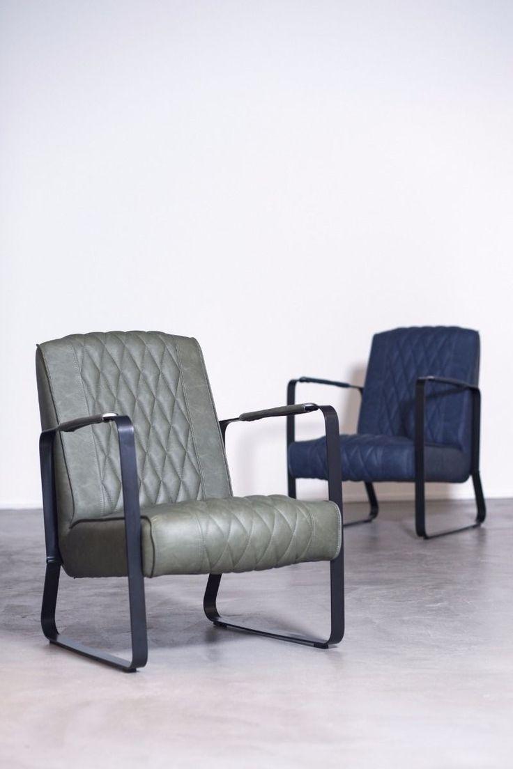 Eleonora Eleonora Fauteuil Caro - Kunstleer - Vintage Groen