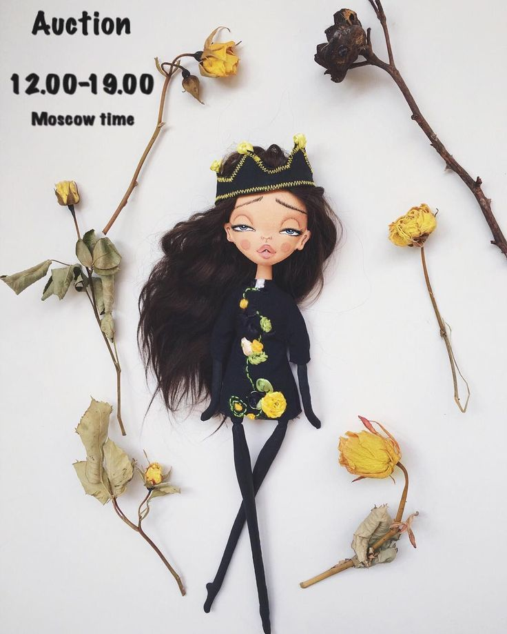 Чёрная принцесса . Кукла интерьерная.Грунтованный текстиль, 100% хлопок, наполнение морской песок и холофайбер. Волосы натуральные, окрашенные (козочка) можно аккуратно делать причёски. Корона из 100% хлопка , грунтованная краской и декорирована лентами, снимается. Платье вискоза , расшито лентами и нитями мулине, не снимается. Сидит, руки ноги , двигаются. Размер около 35 см, сидя 10см (размер тела с головой). ❗️Стартовая цена 4000 руб, шаг (ставка) не менее 500 руб. Окончание в 19-00 по…