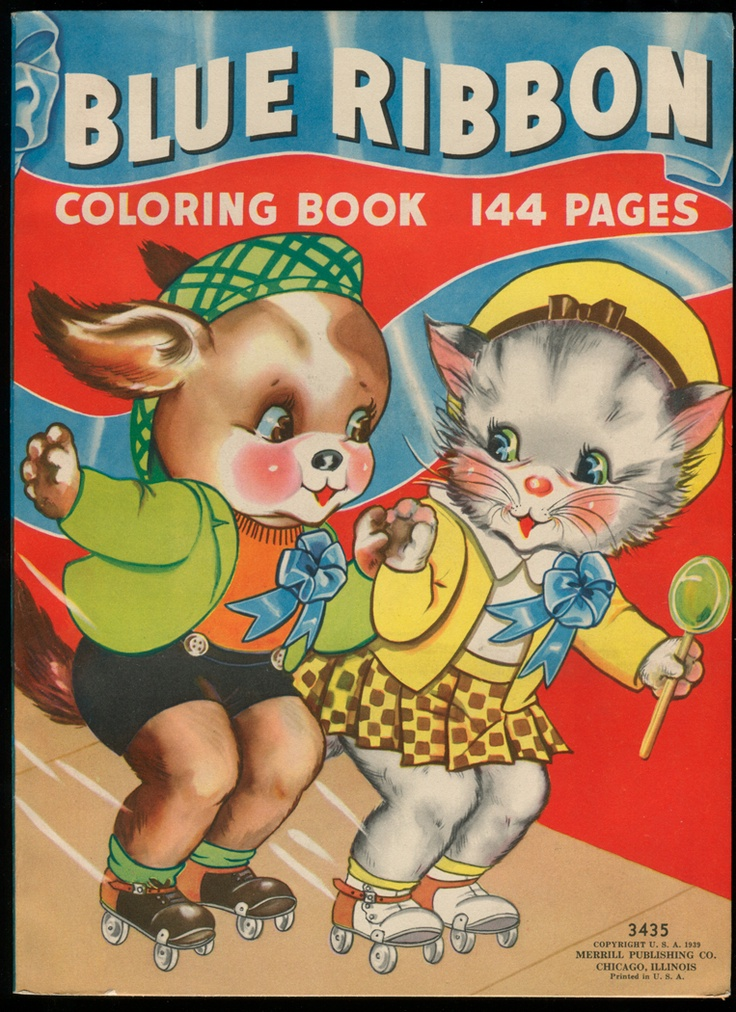 1939 UNCOLORED Blue Ribbon Coloring Book D294