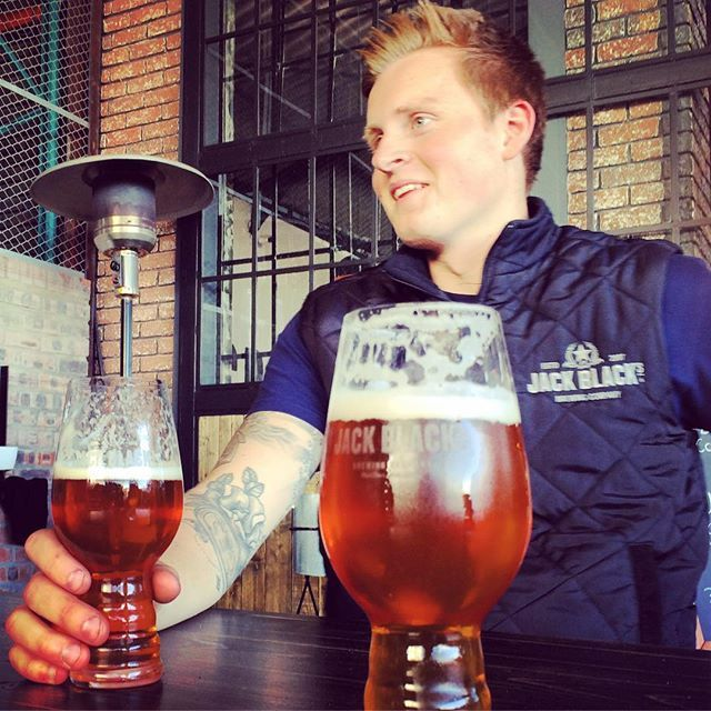 Our brewmaster Jonas enjoying a Eclipse IIPA he brewed with @riotbeer #craftbeer #iipa #capetown