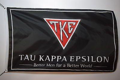 Tau Kappa Epsilon s3 FRATERNITY Letters College Licensed Flag 3x5