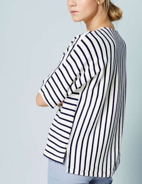 Boxy Stripe Jersey Top WL999 Clothing at Boden