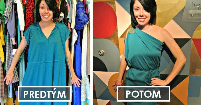 Jillian Owens mení nevkusné second-hand oblečenie na elegantné šaty. Skvelá inšpirácia a nápad ako premeniť veci zo sekáča na krásne outfity. DIY, šitie