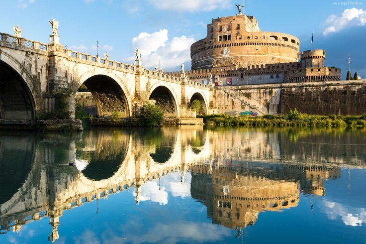 Włochy, Rzym, Rzeka, Most