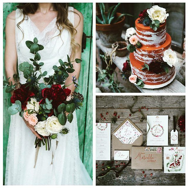 #weddingwednesday by @bridalmusings Cool indie #wedding #inspiration Perfect for #autumn and #fall. Photographed by Margherita Calati, styled by wedding planner, Il Giorno che Vorrei, and set inCastello di San Sebastiano da Po, in Northern #Italy, this #shoot is #laced with #burgundy hues, luxurious florals, #elegant #stationery and #rustic table decor.