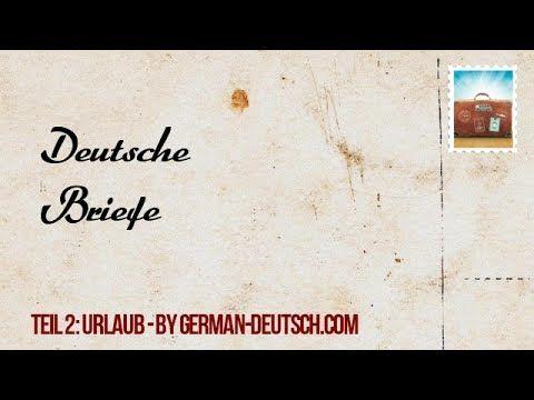 Deutsch Prüfung Brief (B 1 und A 2) schreiben: ✉ 2 private Briefe ...