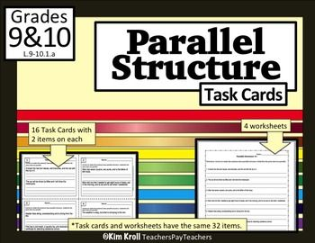 parallelism in writing worksheets