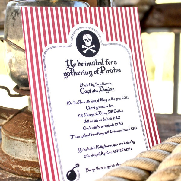 36 best pirate invitation images on Pinterest Anniversary ideas - best of sample invitation to birthday party