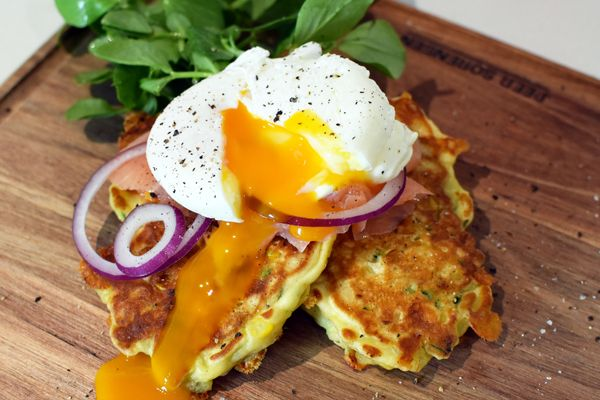 Zucchini and Corn Fritters - Weber
