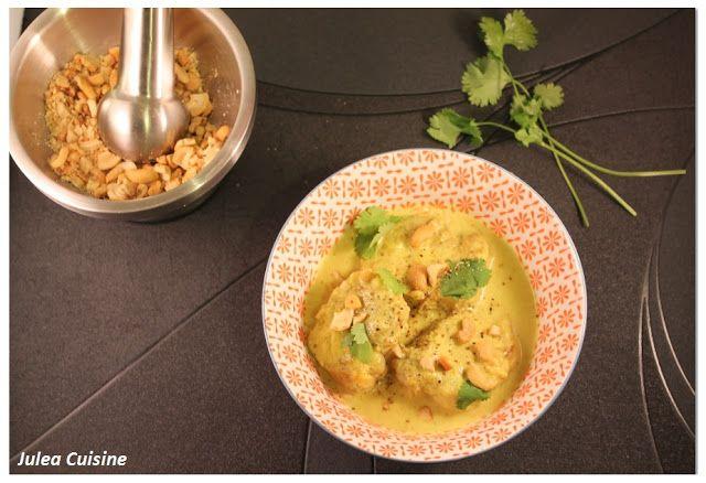 Julea Cuisine - Ma petite cuisine au quotidien: Curry de porc léger, lait de coco et noix de cajou...