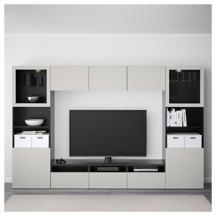 BESTA σύνθεση αποθήκευσης TV/γυάλινες πόρτες - IKEA