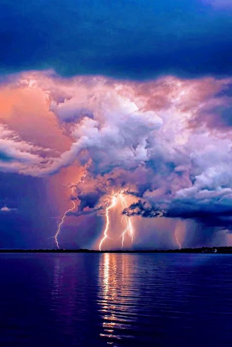 Lightning Storm over Tampa  -  Florida, USA