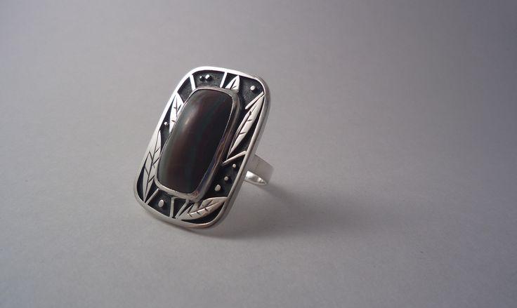 Alexandra Astafeva. Silver Ring  Jasper