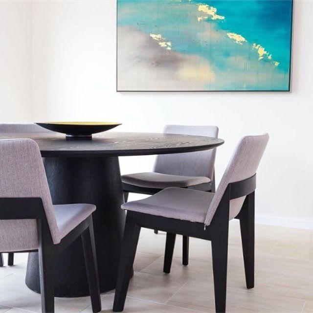 Sleek contemporary dining   Art by Francesca Gnagnarella @fragnagna_art