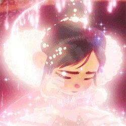 Love these Disney princess transformation  GIFS of Cinderella Vanellope Von Schweetz From the best Tumblr handle- DailyLifeOfaDisneyFreak.。.:*❤