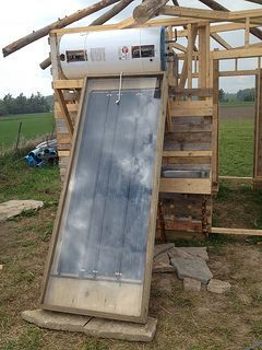 DIY Solar powered outdoor hot shower- one day, could be good for a puppy. Or for me. Showering outside sounds amazing.