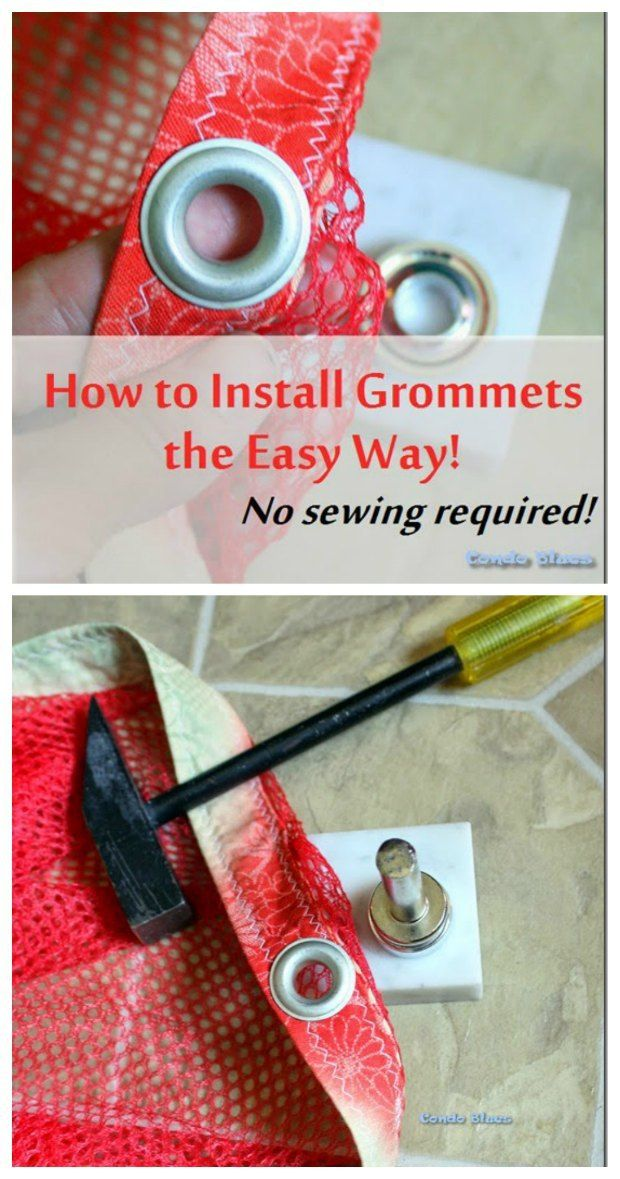 Easy to follow tutorial explains all about grommets and eyelets, what tools you need and how to set them trouble-free.