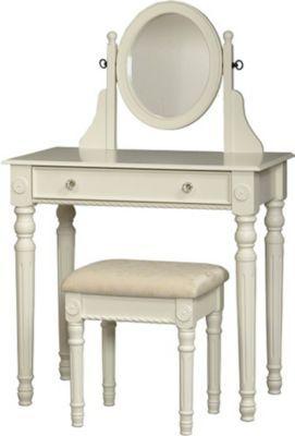Luxury White Vanity with Stool