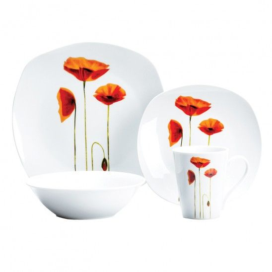 Sonata Square 16 pieces Dinner Set