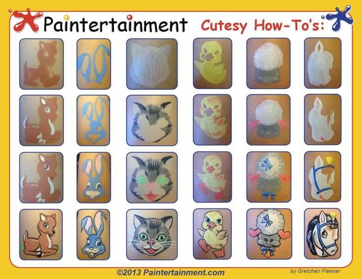 "Paintertainment: Book Inspiration: ""Happy Kitty Bunny Pony: A Saccharine Mouthful of Super Cute"". I know, some of these might have been nice for Easter, but now you have some new ones to work on for next year! Happy painting!"