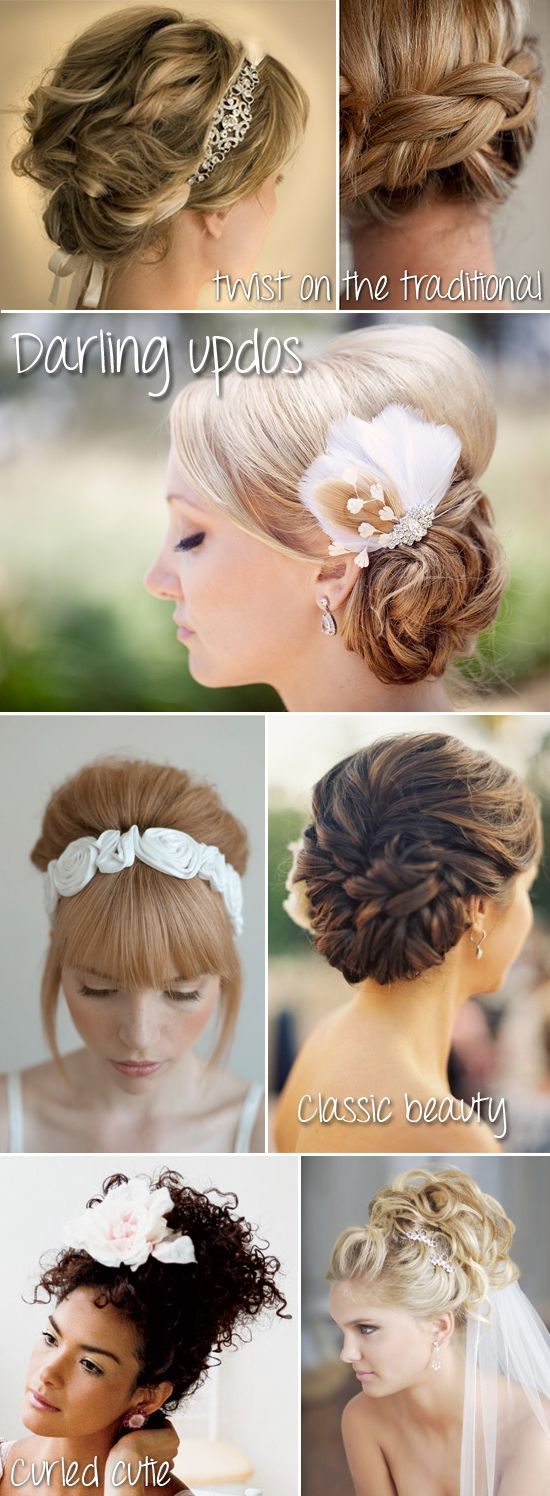 Darling wedding updos and hairstyles for the whole wedding party