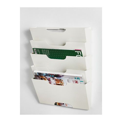 KVISSLE Wall magazine rack, white  Ikea office, Colouring