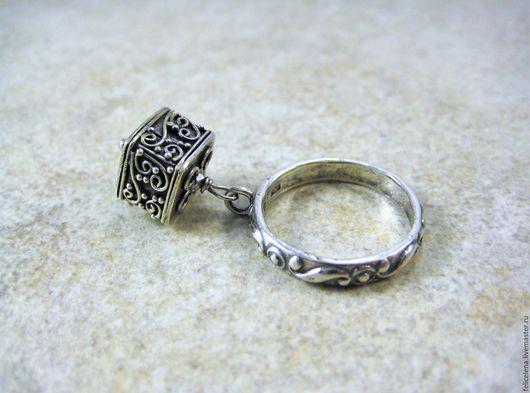 Кольца ручной работы. Заказать Кольцо Silver Cube серебро 925. Елена Море серебряные украшения. Ярмарка Мастеров.