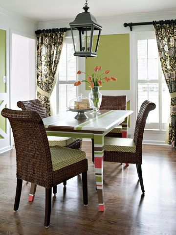 Two easy DIY projects turn your dining room from dull to dazzling.