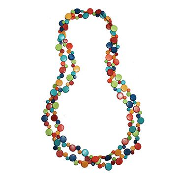 Tropicalia Long Smartie Necklace - Multi | Ruby Olive Jewellery