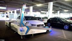 A robot named 'Ray' has been developed to help spatially-challenged drivers fit into tight spaces by automatically parking their car for them. The technology, currently being used at Düsseldorf International Airport, claims to be able to park 60 per cent more vehicles in one area compared with a human driver