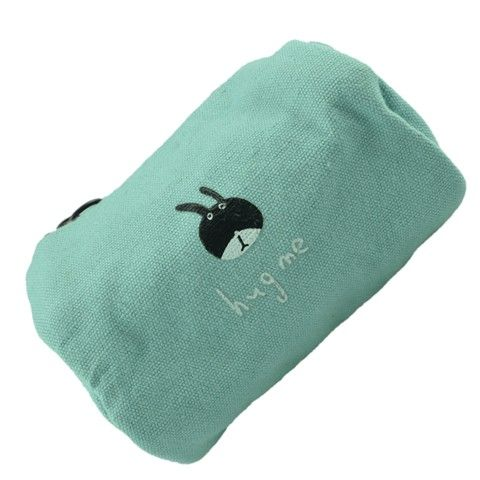 Bettwäsche Reißverschluss Geldbörse mit Tiermuster (Sky Blue Rabbit)