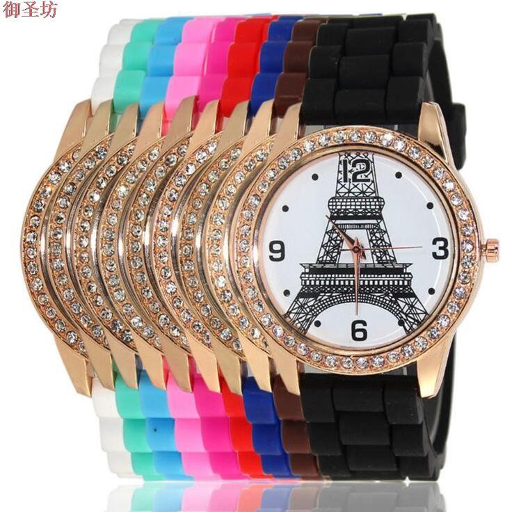 >> Click to Buy << Geneva Sports Silicone Strap Eiffel Tower Print Ladies Digital Quartz Watch Reloj Mujer 2017 Megir Women Watches Montre Saat B92 #Affiliate