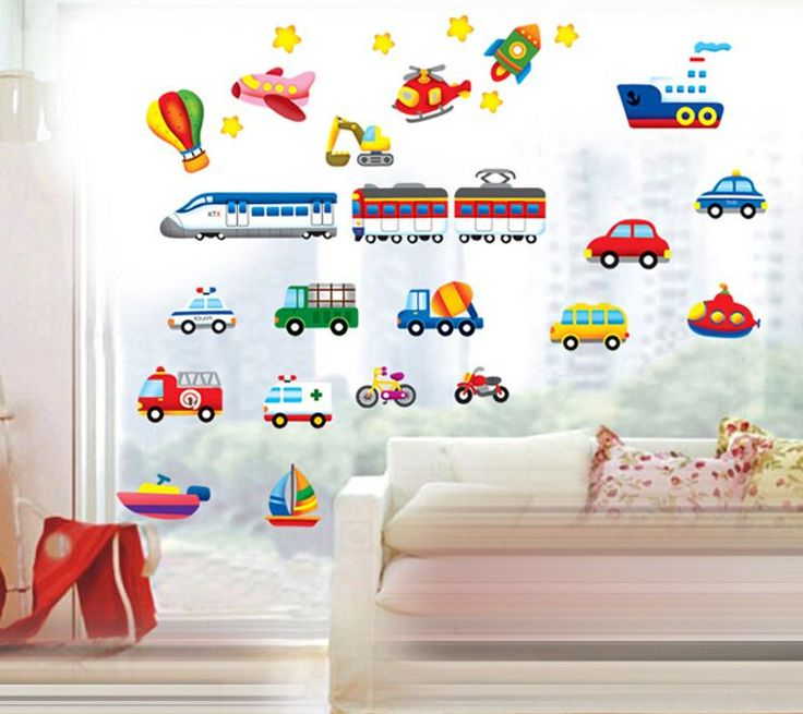 Kids Transports Wall Stickers //Price: $7.99 & FREE Shipping //     #stickers