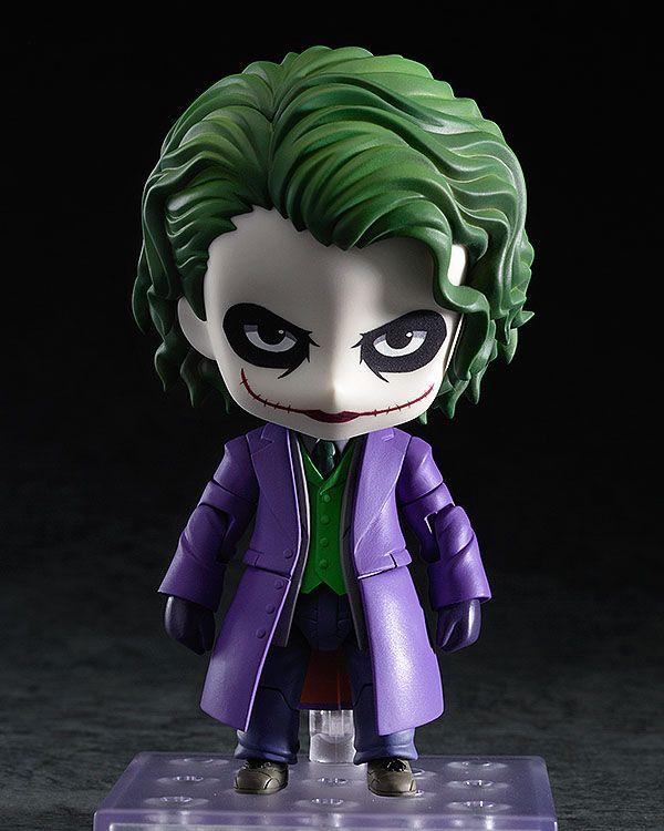 Figurine Joker Villain's Edition articulée taille env. 10 cm avec accessoires et socle. Modèle fabriqué par Good Smile Company dans la collection Nendoroid.