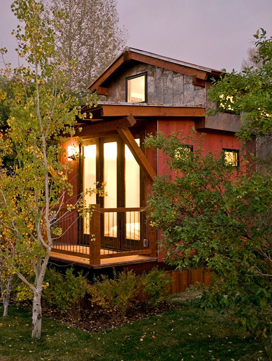 Tiny Park Model House Designed And Built By Jamie Mackay At His Campground In Jackson Hole