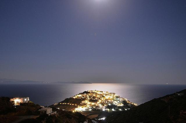 Kastro,Sifnos by moonlight