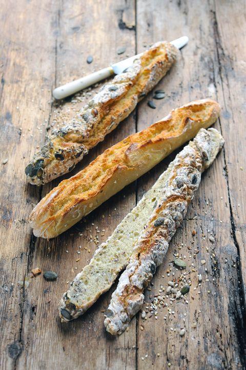 Baguette Nature ou aux P'tites Graines @ Dorian Cuisine #végétal #vegan #pain #faitmaison