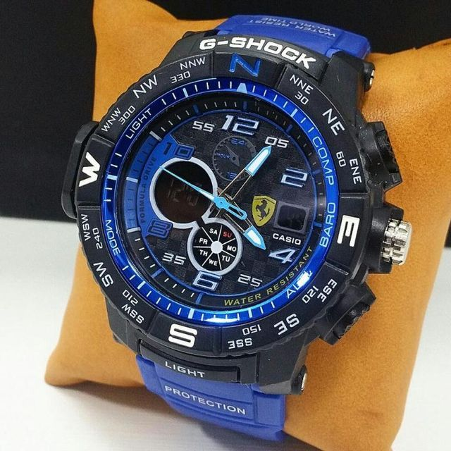 Blue And Black Dial Sports Mens Watch
