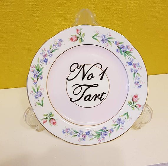 No1 Tar/t Vintage Plate Rude Swear Display Cake Biscuit Plate