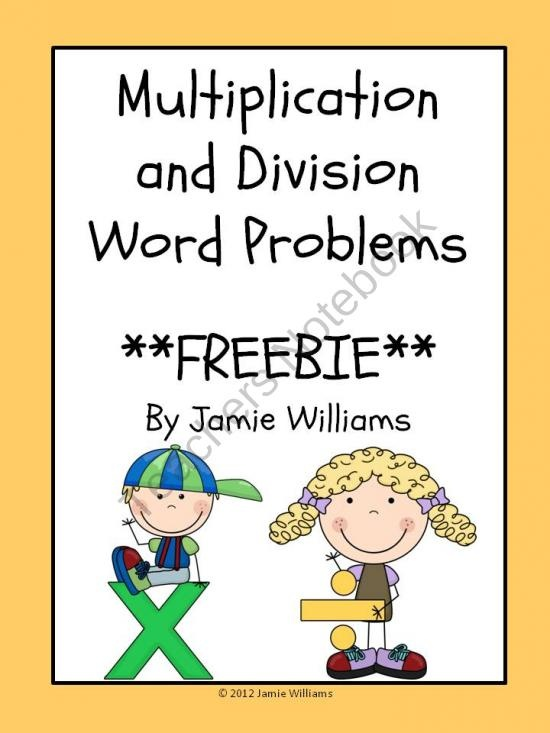 Multiplication and Division Word Problems product from The Teachers' Aide on TeachersNotebook.com