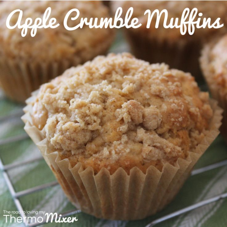 Yum yum yum yum yum. Did I say yum? The goodness of a muffin and an apple crumble all in one. YUM!  These are such