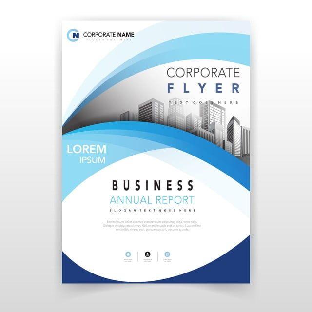 Blue Wavy Corporate Flyer Design In 2020 Corporate Flyer Flyer Banks Advertising